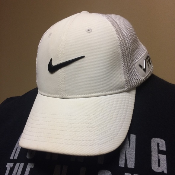 f53260eab Nike White Golf Hat Cap RZN VRS Baseball Flex Fit